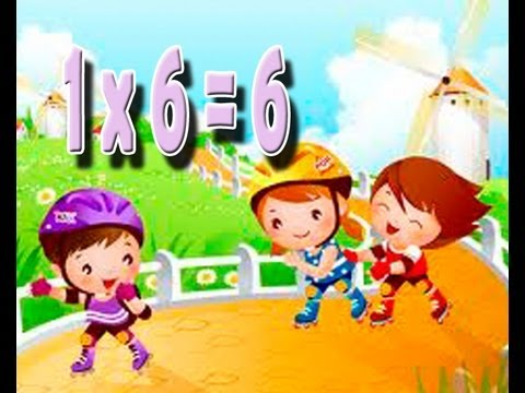 6 time table song the numbears 2x song multiplication for Table 6 song