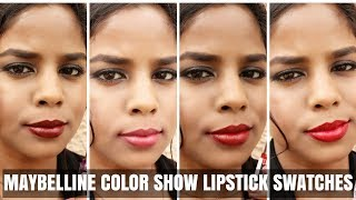 Maybelline Color Show Lipsticks Review amp Swatches All Shades