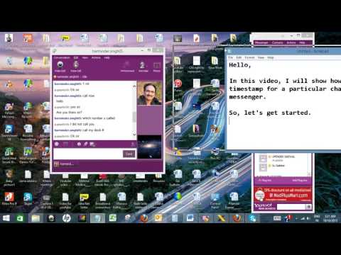 Get Timestamp In Chat Over Yahoo Messenger