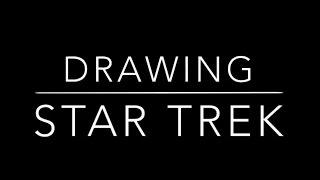Drawing Star Trek | USS Defiant | IrishTrekkie #1
