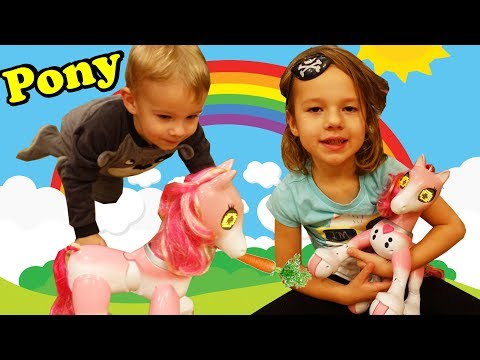 Kids Playing With The Zoomer Show Pony Best Robot Toy For