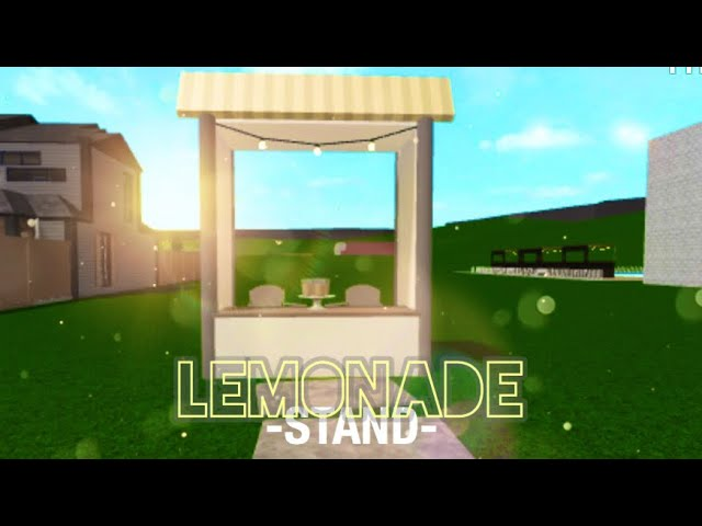 Roblox Bloxburg Lemonade Stand Speed Build 2k Youtube