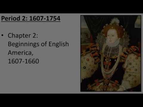 Ch  2: Beginnings Of English America, 1607-1660
