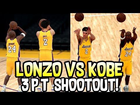 LONZO BALL VS KOBE BRYANT 3 PT CONTEST! NBA 2K18 CHALLENGE