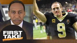 Stephen A. Smith: Drew Brees was 'phenomenal' in Saints' win over Panthers | First Take | ESPN