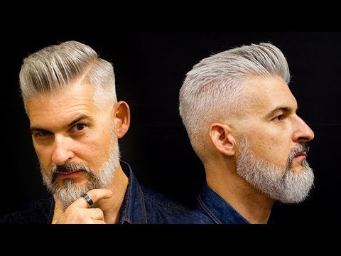 Modern Gentleman's haircut and beard | Men's haircut for 2018