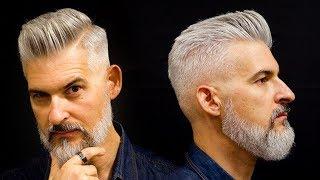 Modern Gentleman's haircut and beard | Men's haircut for 2018