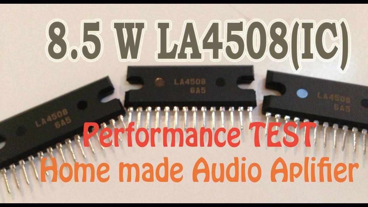 4508 La Amplifier Diagram Circuit Connection 18 Watt Audio With Ha13118 Power 8 5 W Using Ic Test Youtube Rh Com Inch Stage