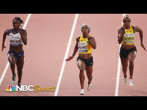 Shelly-Ann Fraser-Pryce wins historic 4th 100m title at Track and Field Worlds | NBC Sports