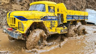 RC Truck ZIL 131 6x6 Axial SCX 10 ii MUD Racing Extreme