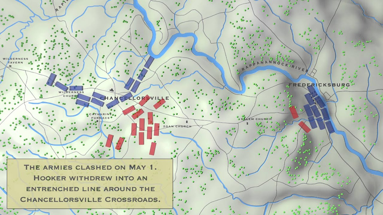 Chancellorsville Battle Map Program - YouTube on