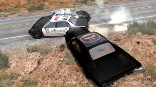 Police Chase Takedowns 8  - BeamNG.Drive Crashes