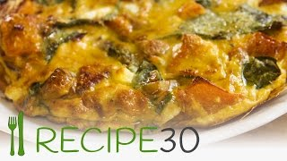 Rustic Pumpkin And Spinach Frittata Recipe With Greek Feta Cheese And Pinenuts - Recipe30