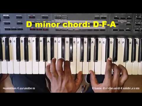 How To Play The D Minor Chord On Piano And Keyboard Dm Dmin Youtube