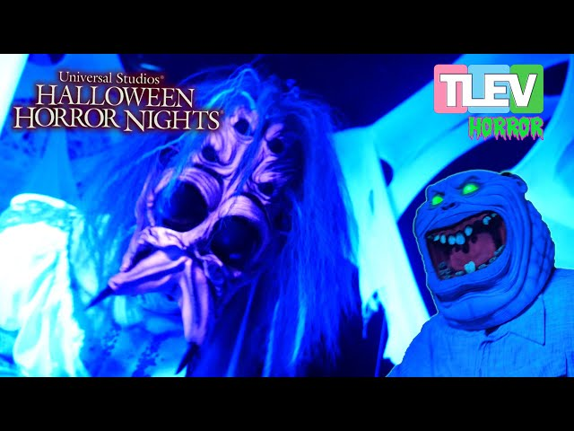 We Spent the Night at Halloween Horror Nights 2019 - Mazes / Scarezones  / Chainsaw Chase-Out