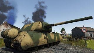 Cверхтяжелый немецкий танк Maus - War Thunder(Сегодня мы расскажем про легендарный сверхтяжелый немецкий танк