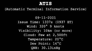 9/11 LGA - LaGuardia Airport ATIS broadcast