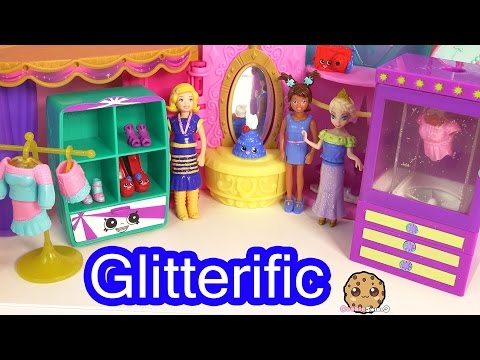 Polly Pocket Glitterific Style Fashion Boutique Dress Up with Friends Disney Frozen Queen Elsa Doll