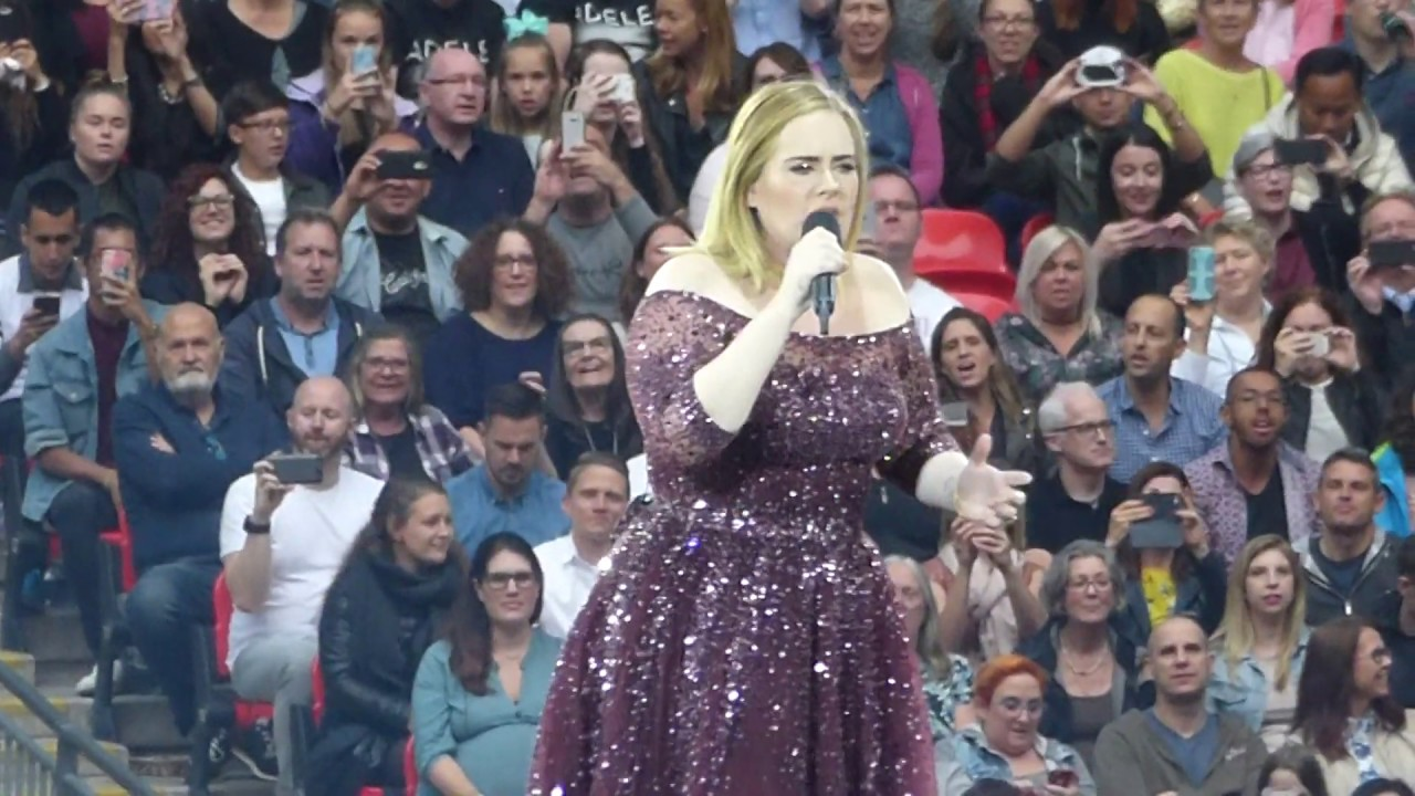 Download ADELE with HELLO - This is probabley here last live performance  - WEMBLEY LONDON - HD VIDEO