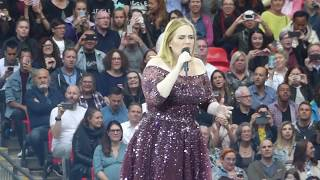 ADELE with HELLO - This is probabley here last live performance  - WEMBLEY LONDON - HD VIDEO