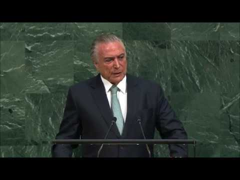 Michel Temer (Brazil) Addresses General Debate, 72nd Session