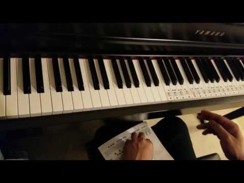 How to apply Piano keyboard stickers for notes Yamaha Clavinova 535