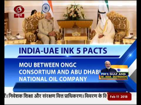 India-UAE sign five pacts