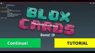 Roblox - Blox Cards | How to Play P.1 - Learning the Basics
