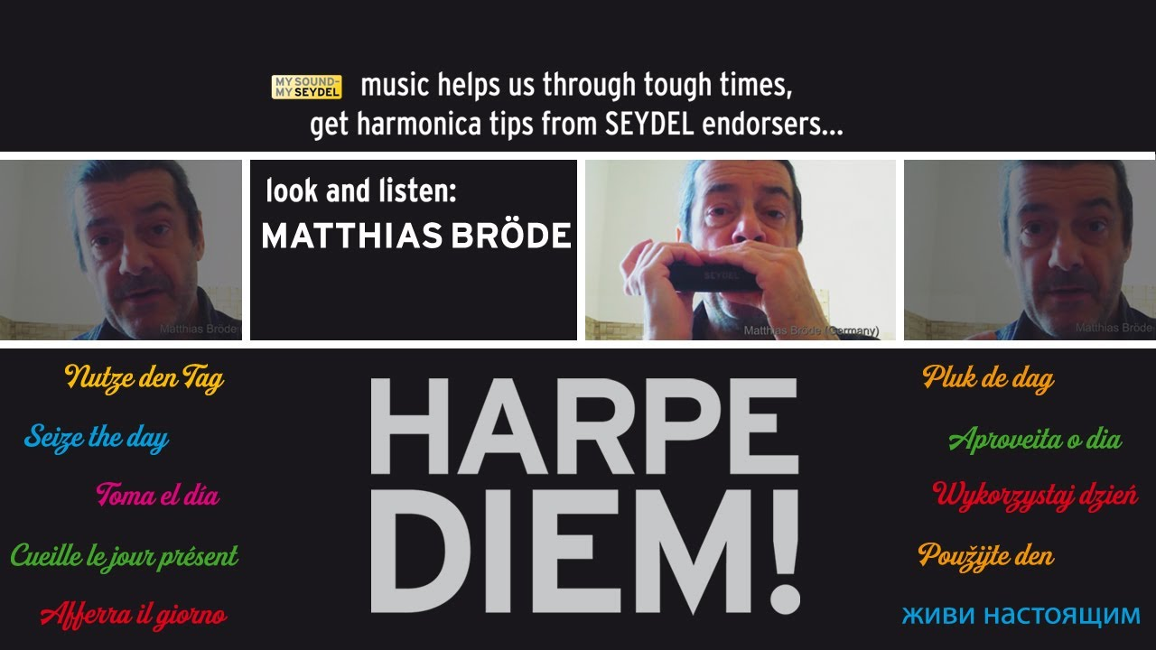 HARPE DIEM! Easy impro in Major and Minor using four notes only by Matthias Broede (D) part1- SEYDEL