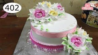 chocolate cake decorating bettercreme vanilla (402) Học Làm Bánh Kem Đơn Giản Đẹp - Hồng Viền (402)