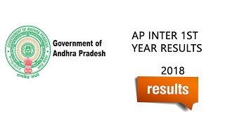 Ap Inter 1st year results 2018 Declared Check Now