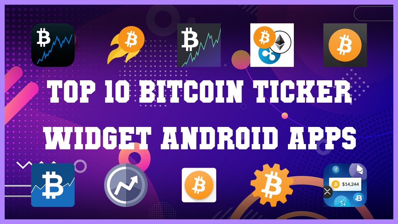 bitcoin ticker widget)