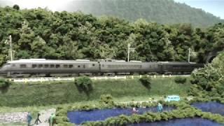 鉄道模型(N)田畑沿いのローカル線を走る787系(アラウンド・ザ・九州)