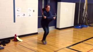 Jump rope trick continuous criss cross