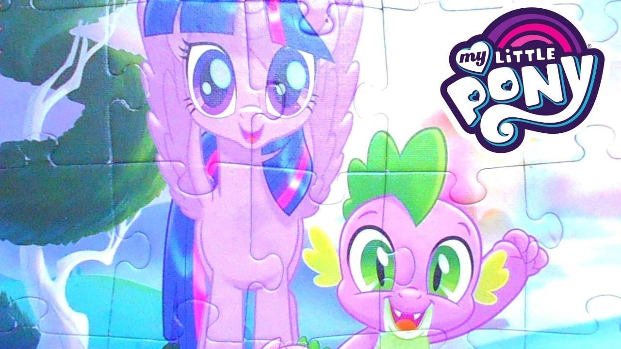 My Little Pony Мой Маленький пони Собираем Пазлы для Детей ...