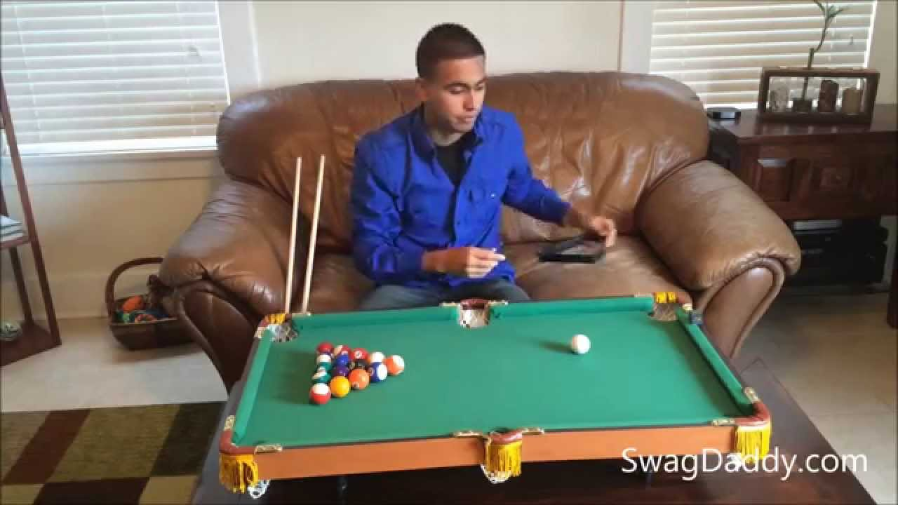 Exceptionnel Club Fun Tabletop Mini Pool Table   SwagDaddy   YouTube