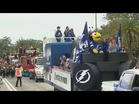 Tampa Bay Lightning at Gasparilla Parade 2019