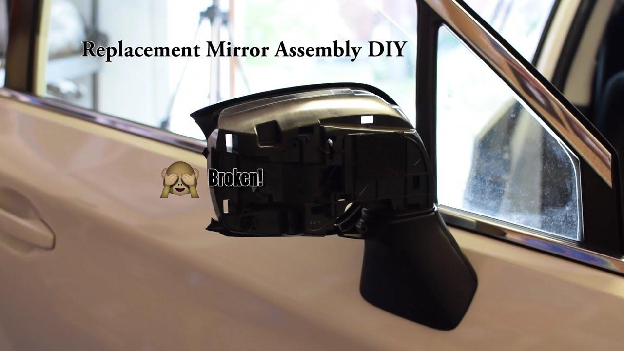 Subaru Passenger Side Mirror Replacement DIY - YouTube