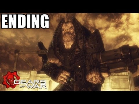 Gears Of War Ending - Walkthrough Part 12 - RAAM BOSS Fight - Xbox 360 Gameplay