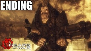Gears Of War Ending - Walkthrough Part 12 - RAAM BOSS Fight - Xbox 360 Gameplay
