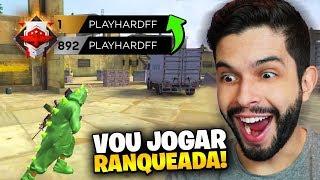 VOU SER TOP 1?!? PLAYHARD NA RANQUEADA DO FREE FIRE!