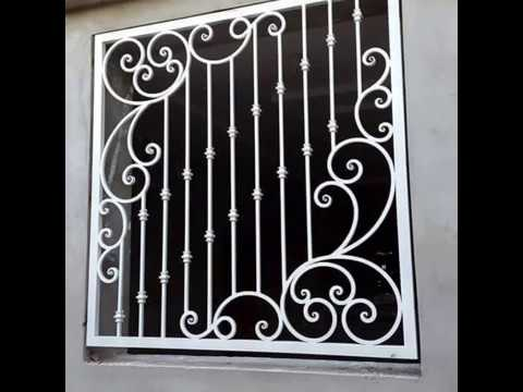 اجمل انواع النوافذ والشبابيك الحديد موديل 2019 Iron Doors Iron Windows Youtube