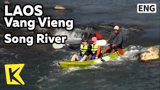 【K】Laos Travel-Vang Vieng[라오스 여행-방비엥]쏭강의 아침/Vang Vieng/Song River/Karst/Hot-Air Balloon