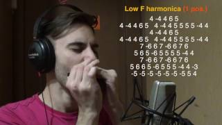 �������� ���� TOP 5 songs without bends [HARMONICA TAB] ������