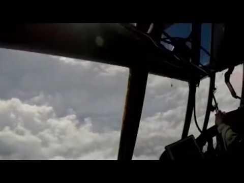 Lograron filmar el ojo del huracán Dorian desde adentro