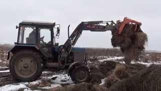 Погрузчик Hauer в работе на одном из сельхозпредприятий Московской области(, 2015-04-06T11:57:04.000Z)