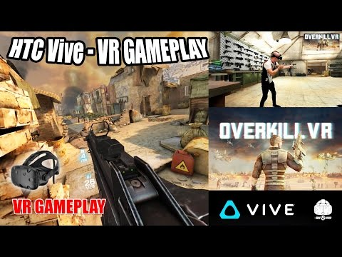 OVERKILL VR GAMEPLAY on HTC VIVE | Surprisingly good FPS wave-based shooter in Virtual Reality!