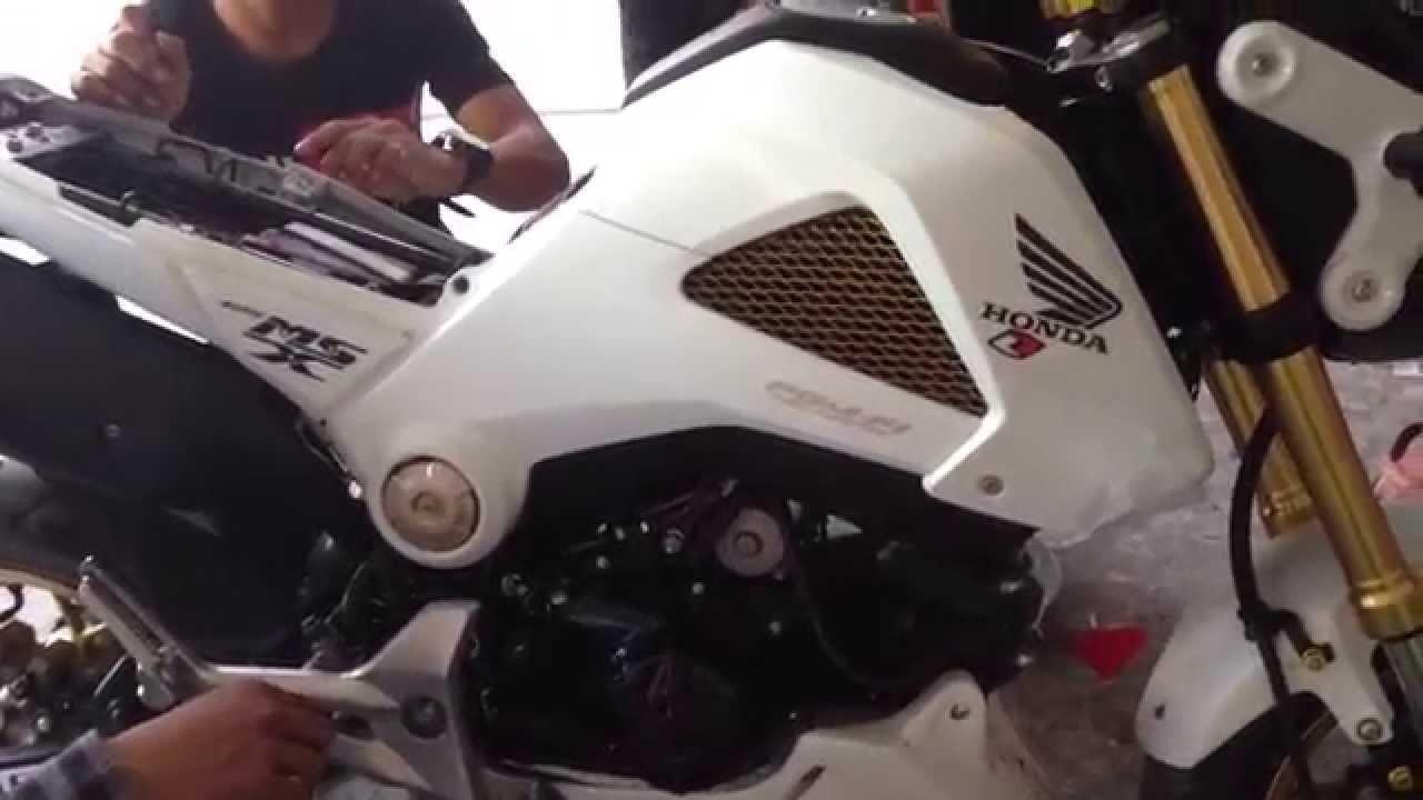honda msx 125 motorcycle to member for cambodia ks - youtube