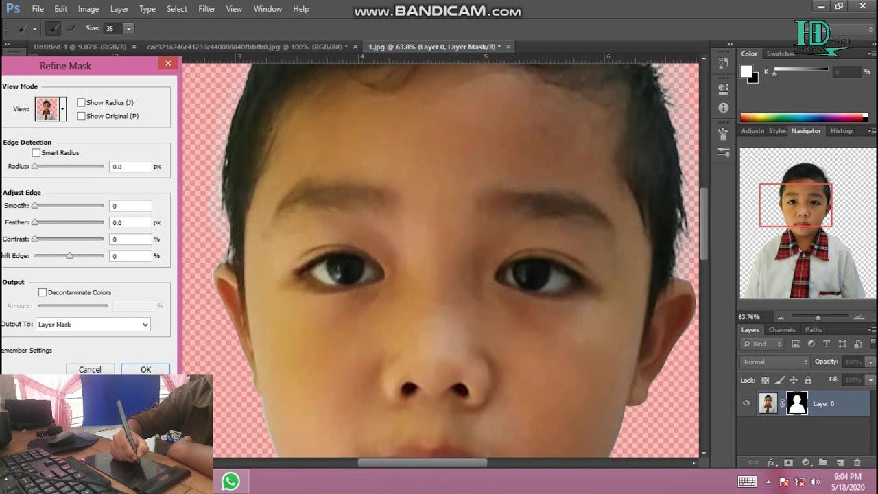 cara menghilangkan beground foto di Photoshop CS6 - YouTube