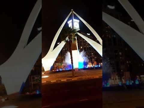 dubai clock tower night